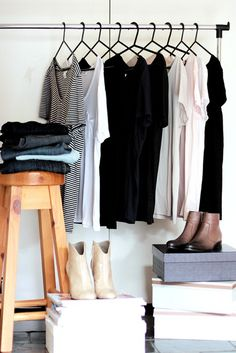 Simplify closet; simple, scarce but good quality