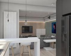 MIESZKANIE M01_2016 / TARNOWSKIE GÓRY - Duża otwarta kuchnia w kształcie litery u, styl skandynawski - zdjęcie od A2 STUDIO pracownia architektury - homebook