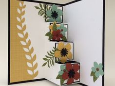 Step card using Botanical Builder dies by Stampin' Up!