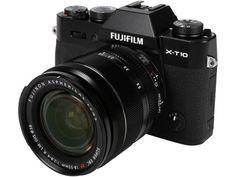 "Newegg.Com - FUJIFILM X-T10 16471005 Black 16.3 MP 3.0"" 920K LCD Mirrorless Interchangeable Lens Camera with XF18-55mmF2.8-4 R LM OIS Lens"