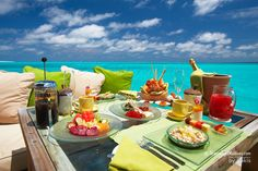 Dining with a beautiful view, Six senses, Laamu