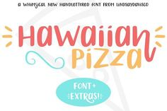 Hawaiian Pizza is a playful mixed case sans serif and symbols font that is sure to make you smile. Let your imagination run wild and design amazing new cards, logos, prints, and more with Hawaiian Pizza. It's also a great choice for branding, social media posts, quotes, packaging, and invitations