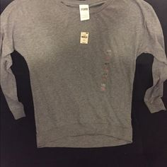 Grey long sleeve tee from PINK Grey long sleeve tee from Victoria's Secret PINK PINK Victoria's Secret Tops Tees - Long Sleeve