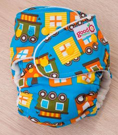 All Aboard One-Size Fitted Diaper (Organic Woven, New Turned, OBV) by thegoodmama.com, via Flickr