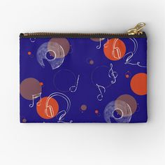 A durable pouch for holding coins, cards, phone, pencils, cosmetics. #pencilpouch #smallbag #cardholder #wallet #zipperpouch #travelpouch #kidspouch #giftformusiclovers #giftforher