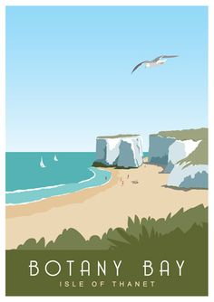 Art print poster of Botany Bay in between Margate by WhiteOneSugar