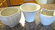 Vintage Zanesville Stoneware Co. trio  for sale at More Than McCoy on TIAS