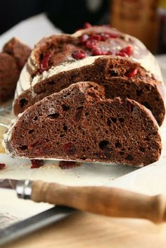 Chocolate and Cranberry Bread