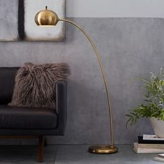 Petite Arc Metal Floor Lamp | west elm
