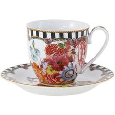 Lenox Dinnerware ~ Melli Mello Striped Porcelain Teacup & Saucer | Available Exclusively at Macy's