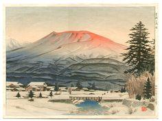 Mt Asama, by Mori Masamoto, 1952.