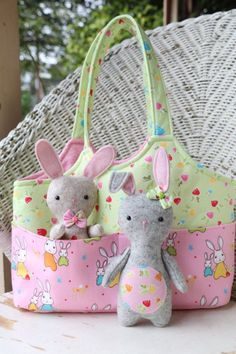 Bag O'Bunnies  Children's Tote and Softies - PDF Sewing Pattern from RicRac Sews