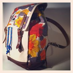 NEW: limited edition MATRA Mini, with reclaimed floral printed vintage fabric, and all leather straps!