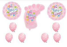 It's A Girl Baby Shower Foot PARTY Balloons Decorations Supplies by Anagram, http://www.amazon.com/dp/B008BMZIQU/ref=cm_sw_r_pi_dp_mFQdqb116Z84Z