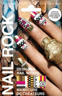 Nail Rock Tribal Print Nail Wraps. They working really well, and stay on for a long time. Definitely a life-saver since I always pick off my nail polish.