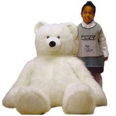 This bear is a perfect complement to any girl's bedroom. Your daughter will love it and it takes a beating. The price is very reasonable for this size and quality.   http://www.my-linker.com/hop/BeauchampWhiteTeddyBear