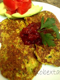 These grain free fritters are really flavoursome and packed full of veg! spring onions (approximately when trimmed) 3 x strips of lemon zest parsley, leaves only 1 carrot, peeled an. Almond Recipes, Veggie Recipes, Whole Food Recipes, Vegetarian Recipes, Weber Q Recipes, Savory Snacks, Gluten Free Cooking, Fritters, Main Meals