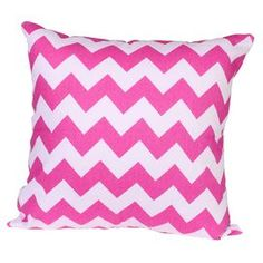 Add a preppy pop of style to your sofa, bed, or favorite arm chair with this plush pillow, showcasing a vibrant palette and on-trend design.   Product: PillowConstruction Material: Canvas Color: Pink and whiteFeatures:  Zipper closureInsert included Cleaning and Care: Machine wash cold. Tumble dry low.Shipping: This item ships small parcelExpected Arrival Date: Between 04/14/2013 and 04/22/2013Return Policy: This item is final sale and cannot be returned