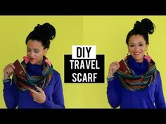DIY Travel Infinity Scarf | A Clever Way to Hide your Passport - YouTube