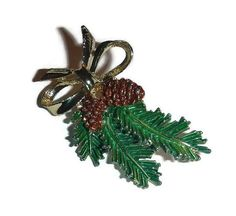 Pinecone Brooch GERRYS Pin 60s Pine Tree by PopcornVintageByTann