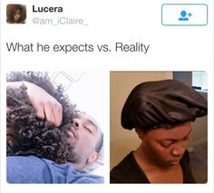 Be prepared future hubby! Natural Hair Memes, Natural Hair Problems, Natural Hair Styles, You Funny, Hilarious, Funny Stuff, Black Girl Problems, Black Memes, Funny Facts