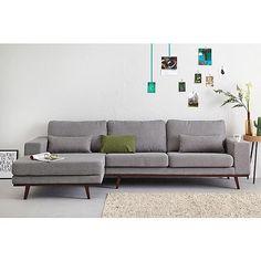 Grey scandinavian couch living room