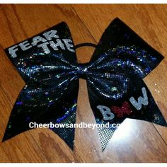 We sell hair bows for for any occasion.We make custom Cheer Bow,Dance Bows,Gymnastics bows,softball bows,soccer bows,tennis bows,etc. We also sell custom T shirts, backpacks,make up cases, mini bow key chains,headbands,hair clips and more. We sell all size bows including large 3 inch wide bows, ribbons and rhinestone cheer bows. We have created bows for some of the top World Winning Teams in the World.This bow is made with a treated chevron sequin ribbon which makes the bow is stiff.