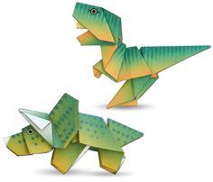 Origami de dinosaurios