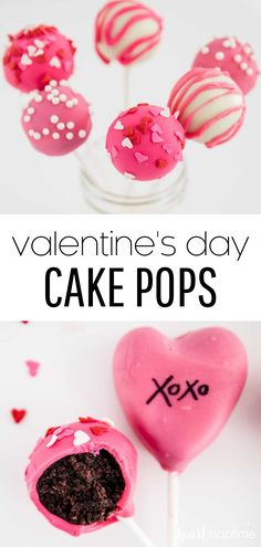 Valentine's cake pops are so easy and so much fun. An outer layer of hardened sweet chocolate coating a chewy, brownie-like center on a stick. Then decorated in sprinkles, glitz, and glam! #cake #cakepops #cakerecipes #chocolate #homemade #valentine #valentinesday #valentinedesserts #valentinesdaydesserts #desserts #dessertrecipes #recipes #iheartnaptime Valentine Desserts, Valentines Day Desserts, Valentine Cake, Delicious Desserts, Dessert Recipes, Sweet Desserts, Cupcake Recipes, Yummy Recipes, Store Bought Frosting