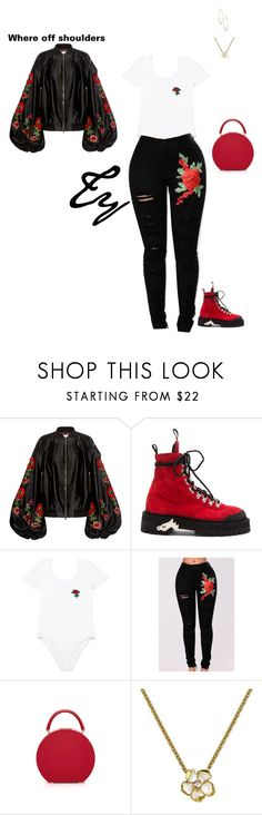 """""""Untitled #379"""" by flydreamersfashion on Polyvore featuring Stella Jean, Off-White, WithChic, Shaun Leane and Lydell NYC"""