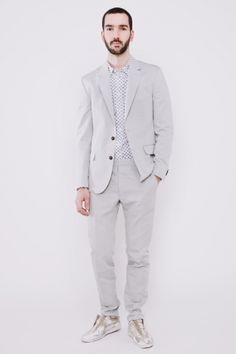 suit up. ++ cotton suit light grey ++ maison martin margiela
