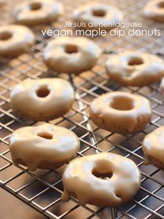 Vegan maple dip donuts for animal-product-free Canadian goodness.