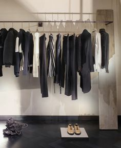 Industrial materials used to furnish Hostem womenswear interior by JamesPlumb, great for a fashionista at home