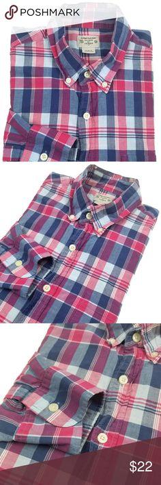 60e9342d4 J. Crew Summer Plaid Shirt Men's Size Medium Sz M Brand: J. Crew