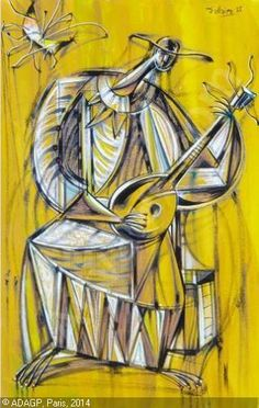 J.-Philippe Dallaire(1916ー1965)「Le musicien」 Jean Philippe, Oeuvre D'art, Les Oeuvres, Painting, Google Search, Figurative, Abstract Backgrounds, Artist, Painting Art