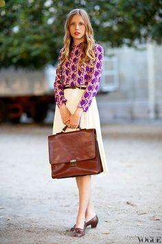 Уличная мода: Неделя моды в Париже: street style