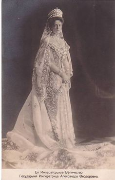 Empress Alexandra in the diamond and pearl kokoshnik