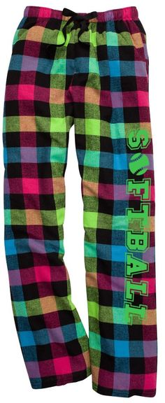 Super comfy Softball themed pocketed flannel lounge pants with Cotton tie cord. 100% Cotton, Expect Shrinkage.
