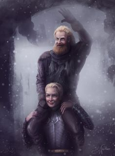 Although I have a soft spot for Brienne and Jamie, I have to admit that Tormund's crush is adorable So here's a painting of the two, can you imagine how happy Tormund would've been? Hopefully he survived the last season :/ #BrienneofTarth #Tormund #GameofThrones #fanart