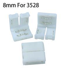 20 CÁI 8 mét 2PIN Nhanh Splitter 2PIN Độc Màu Led Nối Dải Cho 3528 2835 Độc Màu LED Strip không Hàn