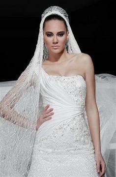 Akay Maison de Couture Wedding Dress.  Different Veil.