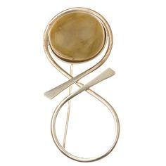Ezüst kitűző borostyán kővel /76442/ Mirror, Decor, Decoration, Mirrors, Decorating, Deco