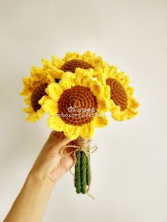 Crochet Sunflower + Diagrams
