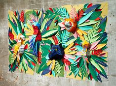mlle hipolyte tropical jungle wall installation