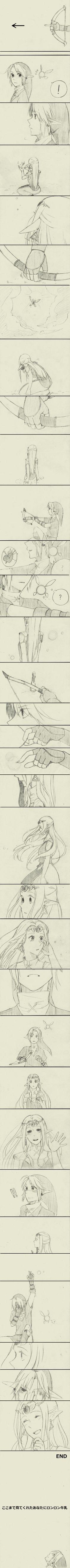 Essa é uma das comics mais lindas de LOZ que já vi <3