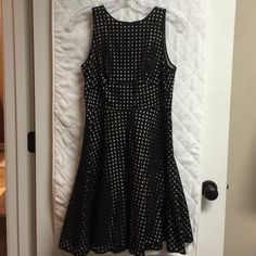 LOFT Dress LOFT dress, black overlay with tan lining, worn once LOFT Dresses Midi