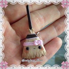 #kawaii #charms #polymer #clay #broom