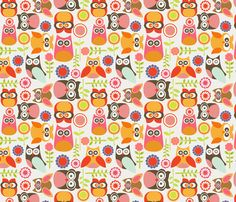 Cute little Owls fabric by valentinaramos on Spoonflower - custom fabric