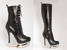 Stiletto ice skates.  DSquared $1485+