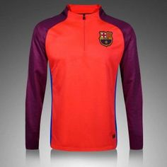 Barcelona Orange-Red Long Sleeve(with red sleeve) Training Top Brand: Nike Gender: Men's Adult Model Year: Material: Polyester Type of Brand Logo: Embroidered Type of Team Badge: Embroidered Barcelona 2016, Orange Sweaters, Training Tops, Suits, Orange Red, Long Sleeve, Sleeves, Model, Mens Tops